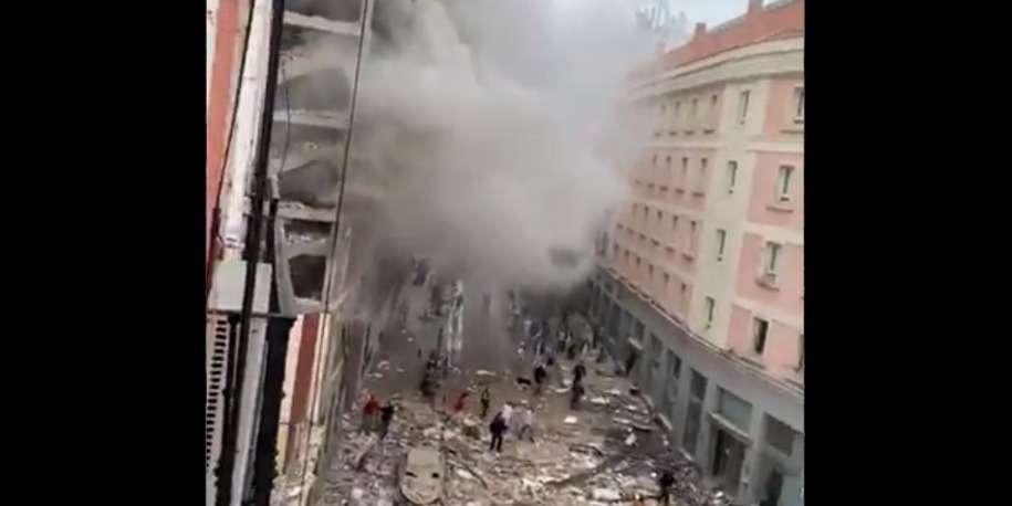 🇪🇸 Grande explosion à Madrid: l'immeuble de 7 étages d'une paroisse soufflé